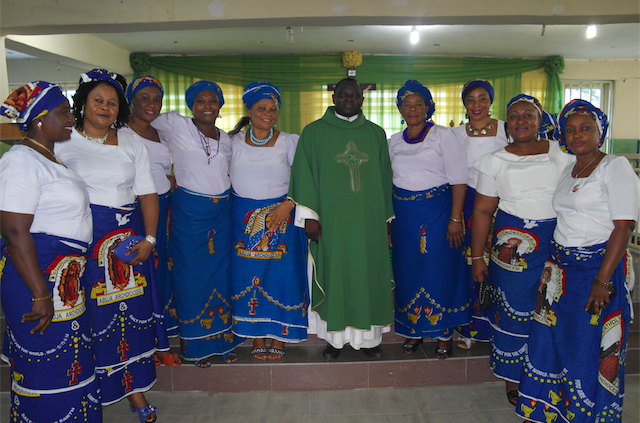 Rev Fr Richard Gberikon, our Parish Priest with the CWO Executive Committee,